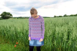 L wie lilafarbenes Langarmshirt 3