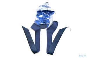 Tutorial Oooverall aus Softshell mit Reißverschluss und Belege