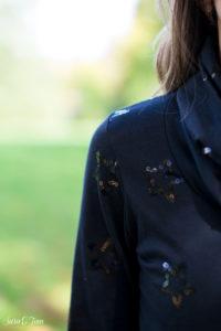 Mein schwarzes festliches Shirt