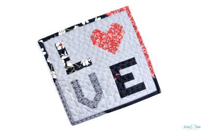 Meine Quiltblöcke Merry Kite und Love