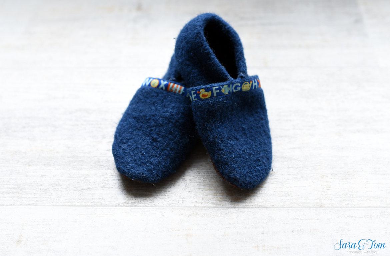 Hausschuhe aus Wollwalk für die kalte Zeit