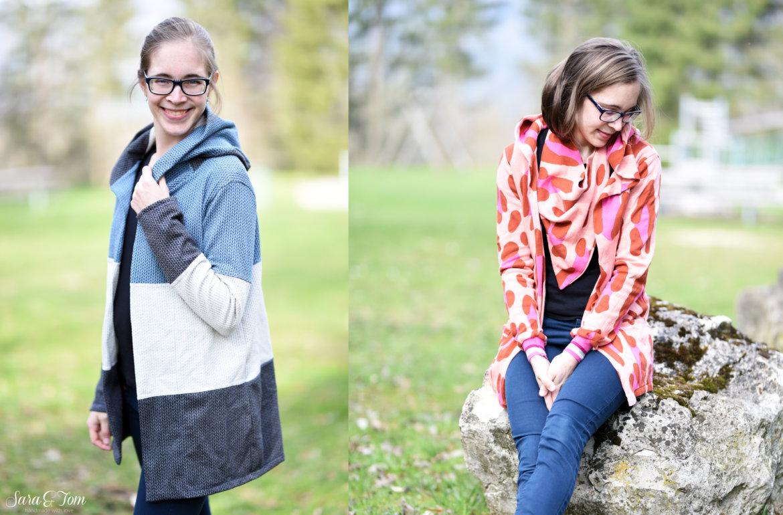 Der Mantel Tatjana im Colourblock Style