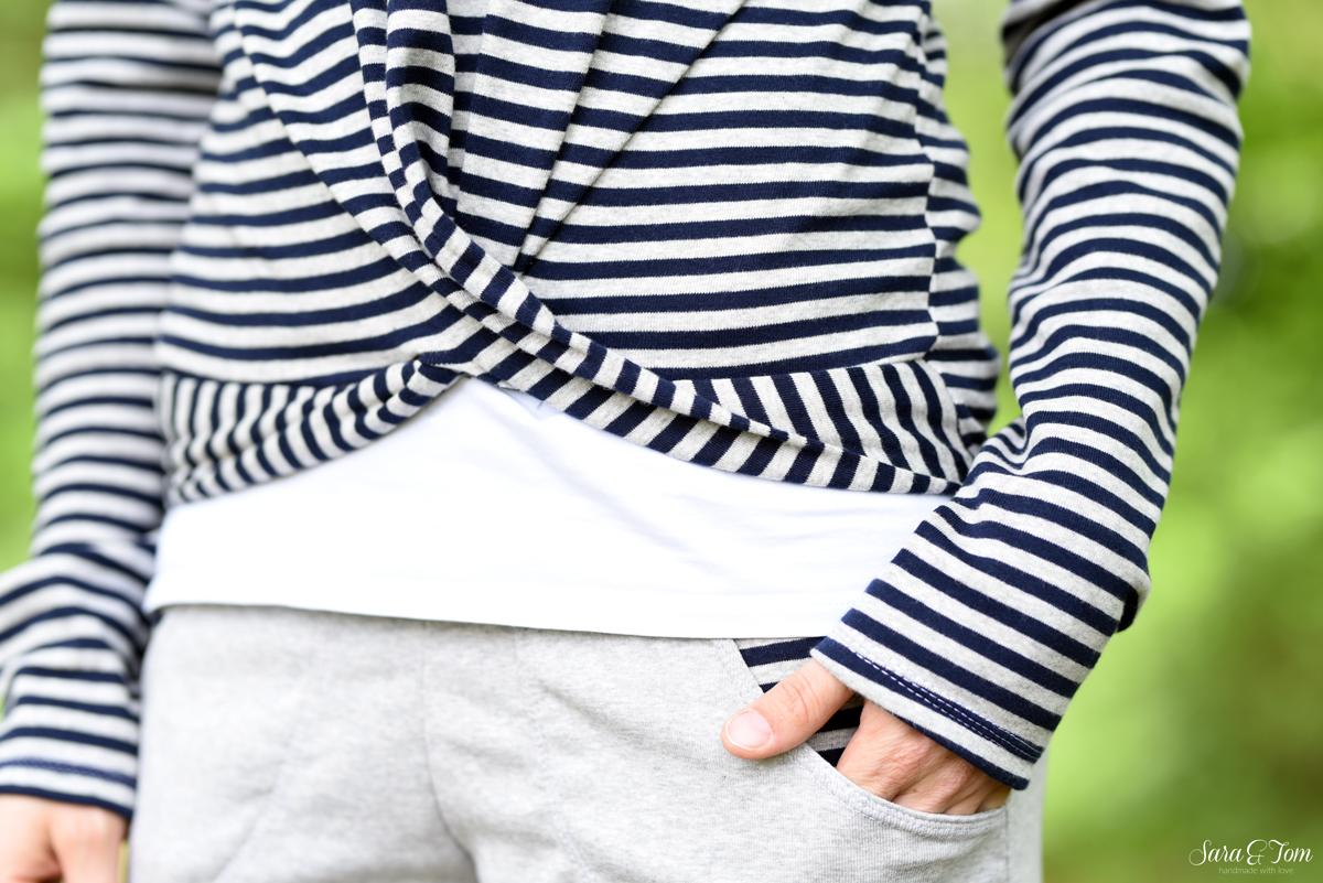 Das Shirt Henrica mit Knoteneffekt