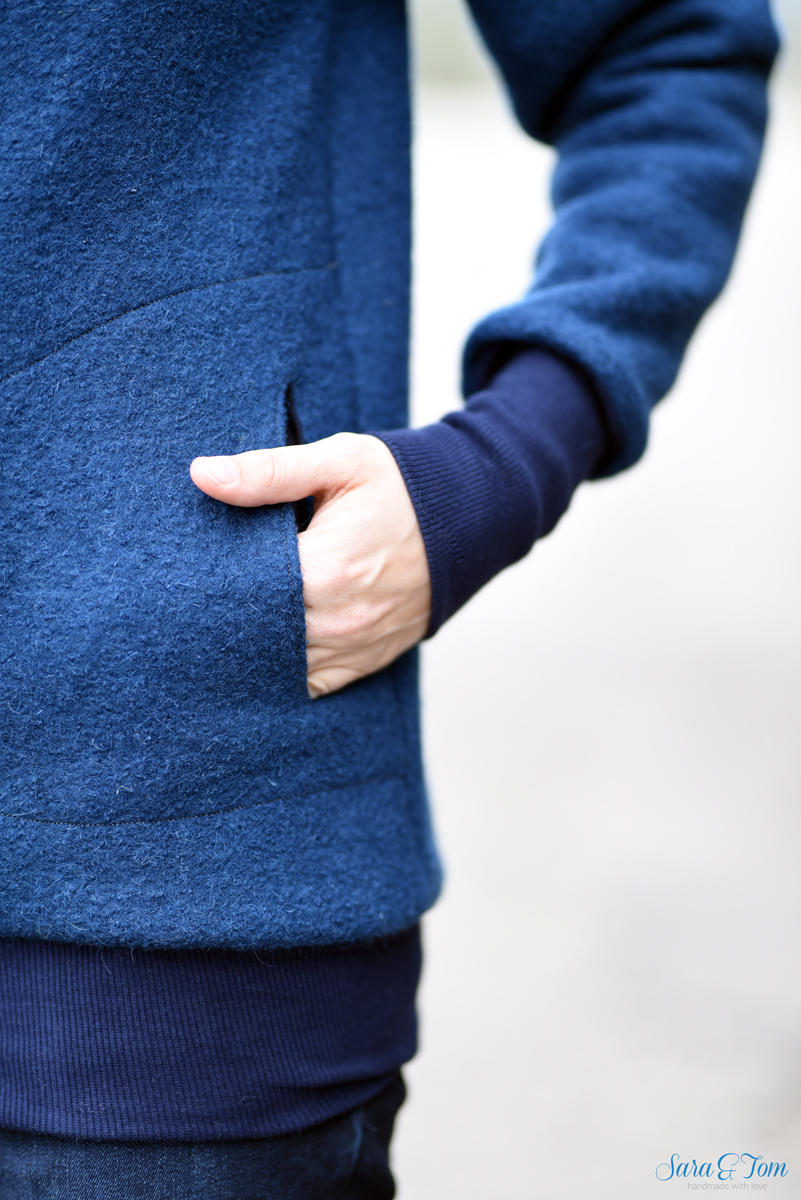 Eine Jacke aus Wollwalk für die Mama