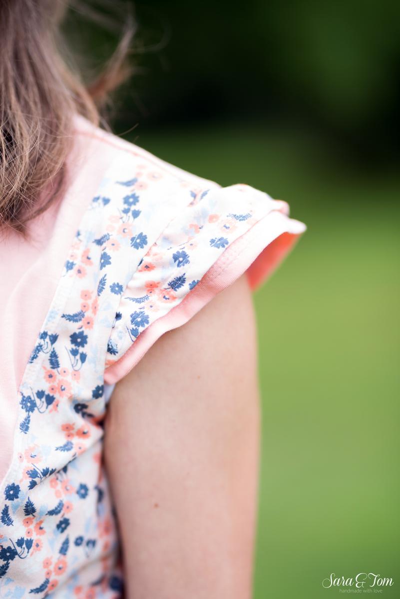 Eine sommerliche Mathilda mit Flügelärmeln