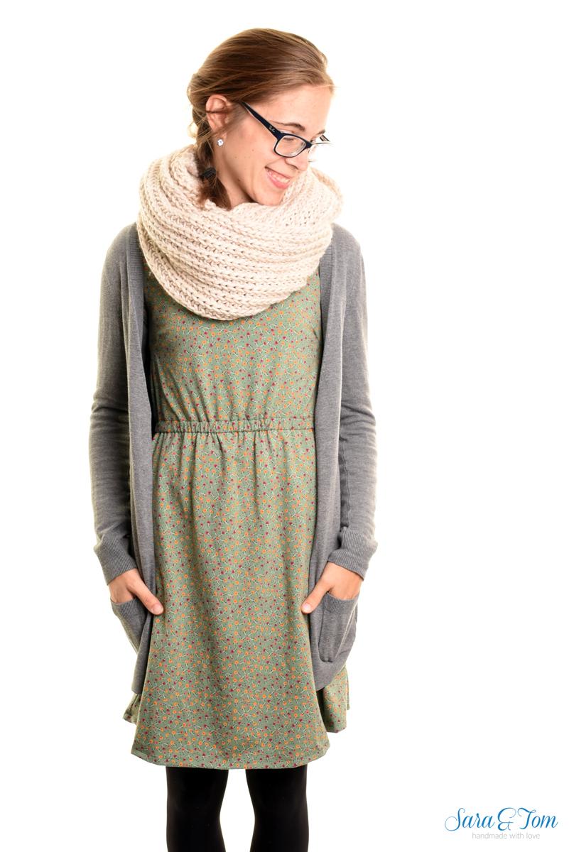 Mein Kleid Bertha in grün von Konfettipatterns