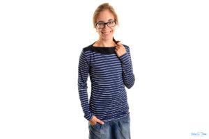 Ein Pullover ein Quiltblock und eine Stickserie