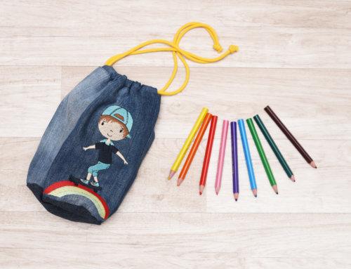 Kindersachen sticken – Regenbogenkinder