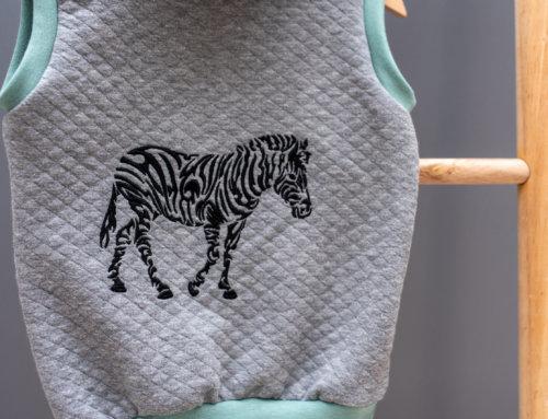 Pullunder besticken Zebra